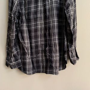 Old Navy Tops - Old Navy Lightweight Black Plaid Tunic